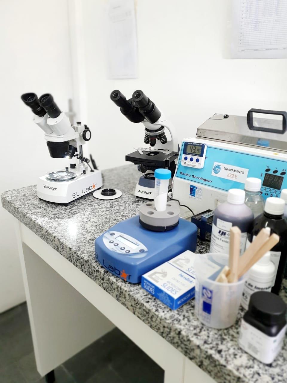 Análise microbiológica no litoral - 1
