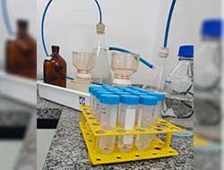 Análise microbiológica em água no litoral